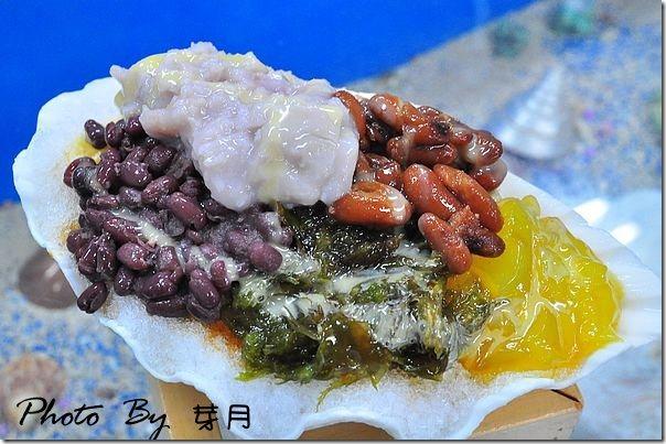 小琉球美食海之家貝殼章魚海藻冰
