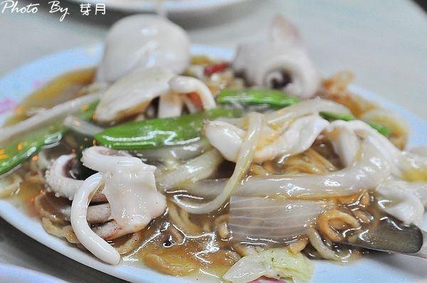 台南美食大同路炒鱔魚專家信義小吃店花枝意麵