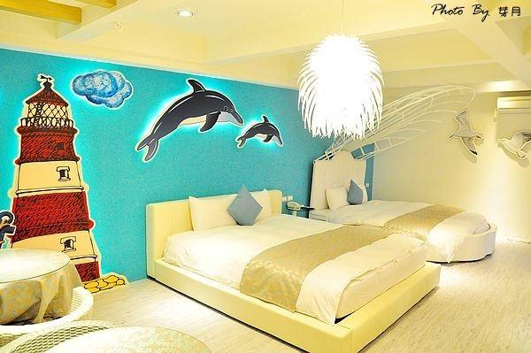 宜蘭五結民宿心適軒川月星城童話馬車貝殼大船鳥籠求婚床
