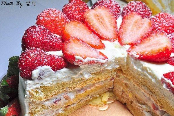 龍潭滷學學工坊爆炸花開富貴6吋草莓蛋糕團購美食