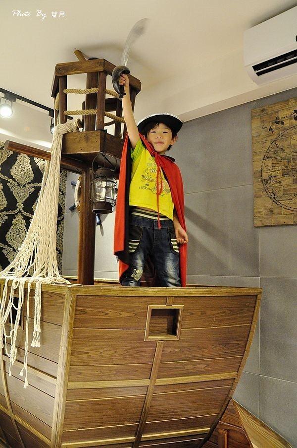 宜蘭礁溪溜滑梯球池海賊船親子民宿旅行筆記浮光