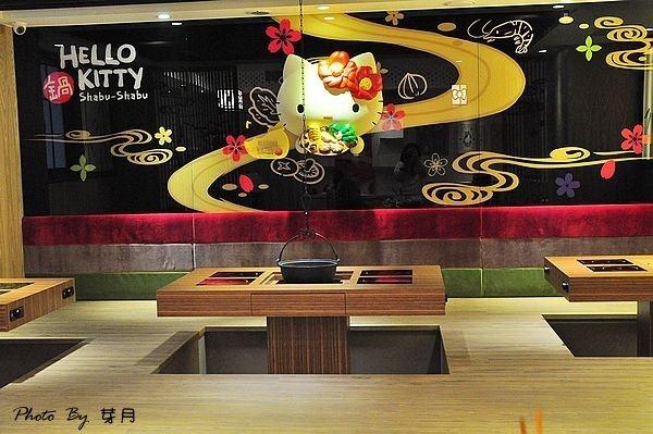 台北市美食東區—Hello Kitty Shabu-Shabu和風小火鍋–全台灣第一家hello Kitty火鍋店,粉紅山茶花Kitty風襲捲而來 @民宿女王芽月-美食.旅遊.全台趴趴走