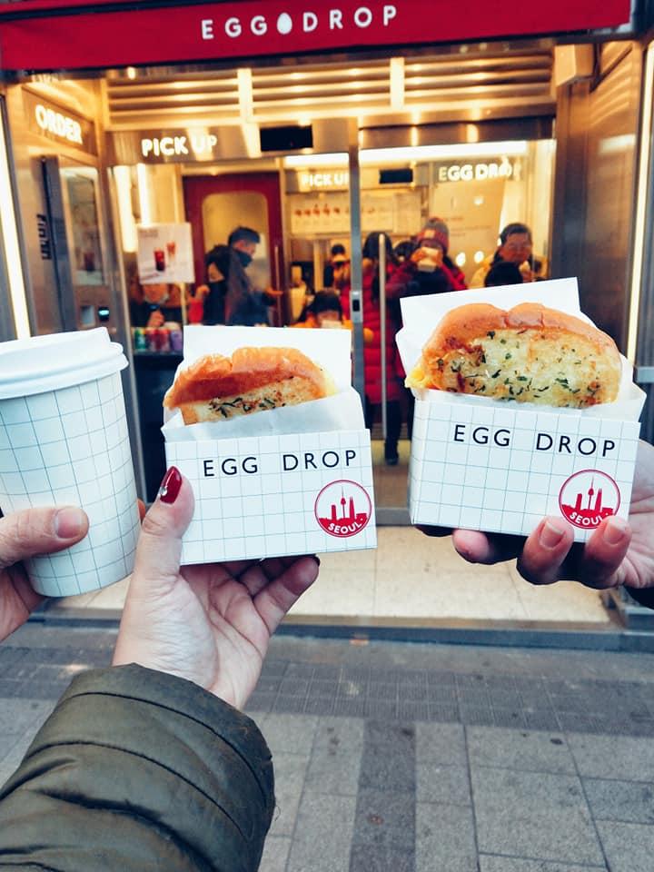 Bacon Cheese,BBQ,Egg Drop,IG,吐司盒子,弘大商圈,弘大美食,排隊美食,首爾美食 @民宿女王芽月-美食.旅遊.全台趴趴走