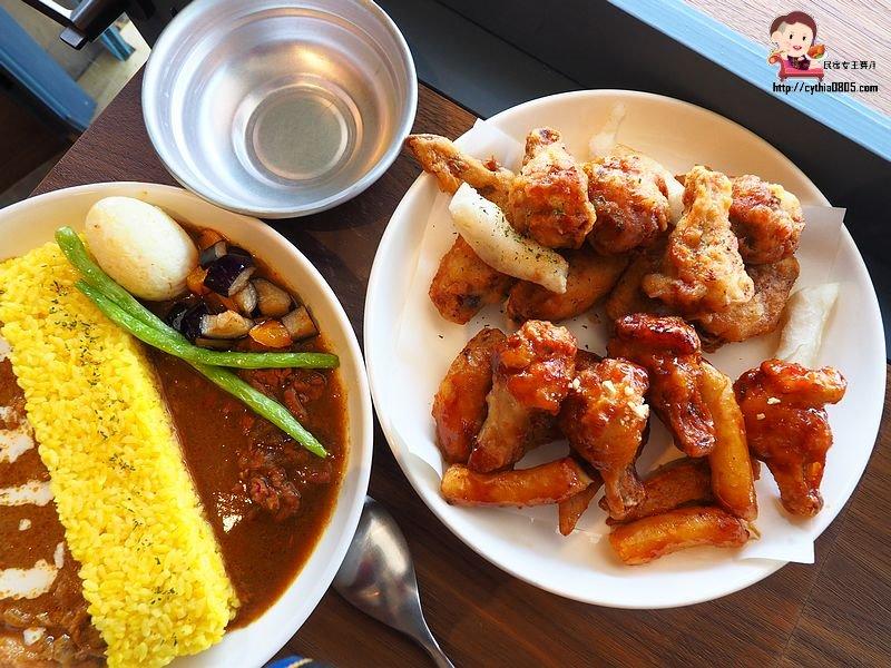 桃園中壢美食-alo café 你好咖啡-老街溪畔的小店面,韓式炸雞好吃耶