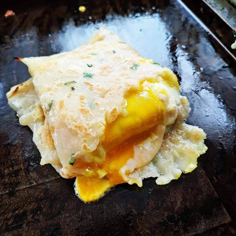 中壢美食,中壢早餐,大崙美食,猿古早味蛋餅,粉漿蛋餅,半熟蛋蛋餅